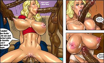 blondes hunt for big black cock Hot Blondes Bet On Big Black Cocks – Parte 2 –HQ Comics.